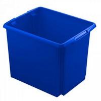 Drehstapelbehälter, leichte Ausführung, lebensmittelecht, Inhalt 45 Liter, LxBxH 455 x 360 x 360 mm, Polypropylen (PP), blau