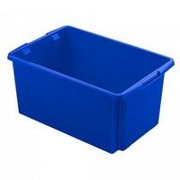 Drehstapelbehälter, leichte Ausführung, lebensmittelecht, Inhalt 51 Liter, LxBxH 595 x 395 x 280 mm, Polypropylen (PP), blau