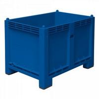 Palettenbox mit 4 Füßen, LxBxH 1200 x 800 x 850 mm, Farbe: blau