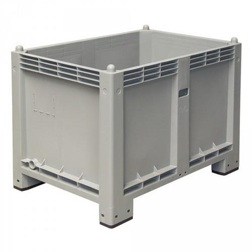 Palettenbox mit 4 Füßen, LxBxH 1200 x 800 x 850 mm, Farbe: grau