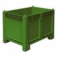 Palettenbox mit 4 Füßen, LxBxH 1200 x 800 x 850 mm, Farbe: grün