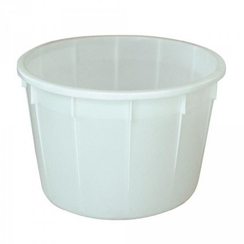 Rundbehälter, 225 Liter, Ø 860, Höhe 550 mm, weiß, Polyethylen-Kunststoff (PE-HD), lebensmittelecht