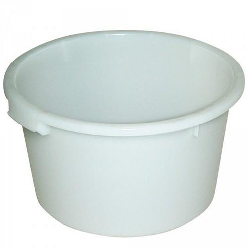 Rundbehälter, 85 Liter, Ø 635/510, Höhe 385 mm, weiß, Polyethylen-Kunststoff (PE-HD), lebensmittelecht