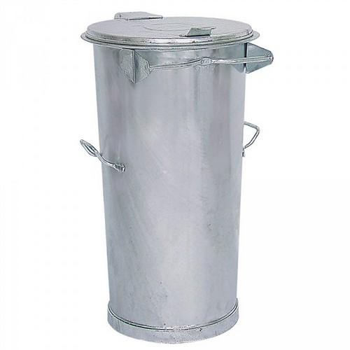 Mülltonne 110 Liter, Höhe: 870 mm, Ø unten/oben: 390/500 mm, Stahl, feuerverzinkt