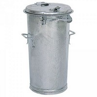 Mülltonne 50 Liter, Höhe: 690 mm, Ø unten/oben: 305/400 mm, Stahl, feuerverzinkt