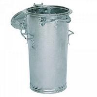Mülltonne 50 Liter, Höhe: 690 mm, Ø unten/oben: 305/400 mm, Kurzgriffbügel, Stahl, feuerverzinkt