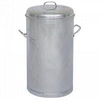 Mülltonne 60 Liter, HxØ 630 x 380 mm, Stahl, feuerverzinkt
