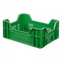 Stapelkorb für Obst u. Gemüse, Inhalt 10 Liter, LxBxH 400 x 300 x 165 mm, grün