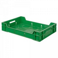 Stapelkorb 12 Liter, grün, für Obst und Gemüse