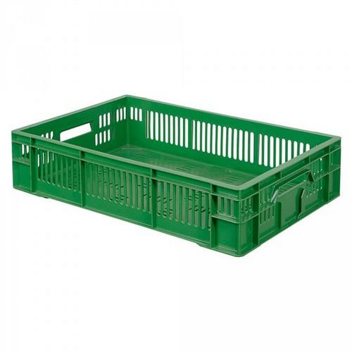 Stapelkorb für Obst u. Gemüse, Inhalt 26 Liter, LxBxH 600 x 400 x 140 mm, grün