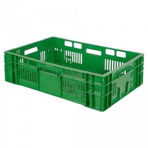 Stapelkorb für Obst u. Gemüse, Inhalt 32 Liter, LxBxH 600 x 400 x 170 mm, grün