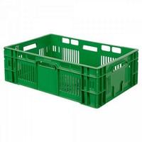 Stapelkorb für Obst u. Gemüse, Inhalt 38 Liter, LxBxH 600 x 400 x 200 mm, grün