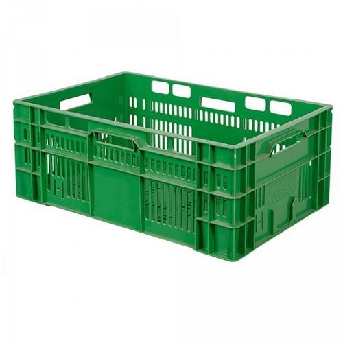 Stapelkorb für Obst u. Gemüse, Inhalt 46 Liter, LxBxH 600 x 400 x 240 mm, grün