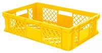 Bäckerkiste 60 x 40 x 15 cm, 27 Liter, gelb