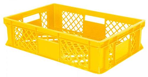 Bäckerkiste 600 x 400 x 150 mm, gelb