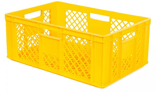Bäckerkiste / Stapelkorb 600 x 400 x 240, 43 Liter, gelb