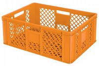 Stapelkorb / Bäckerkiste 600 x 400 x 240 mm, 43 Liter, orange