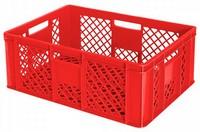 Stapelbehälter / Bäckerkorb - 600 x 400 x 240 mm, 43 Liter, rot