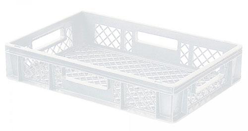 Stapelkorb für Brot und Brötchen, 23 Liter, 60 x 40 x 12 cm, Farbe: weiß