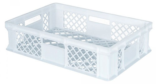 Bäckerkörbe, weiß, 60 x 40 x 15 cm, 27 Liter