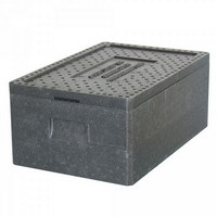 Thermobox GN 1/1, LxBxH 600 x 400 x 230 mm, Inhalt 29 Liter, mit Deckel, anthrazit