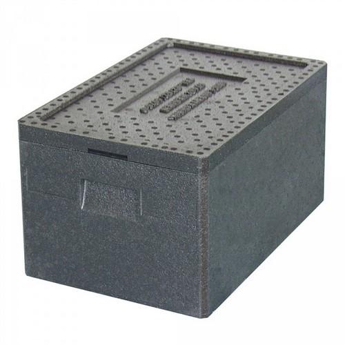 Thermobox GN 1/1, LxBxH 600 x 400 x 280 mm, Inhalt 38 Liter, mit Deckel, anthrazit