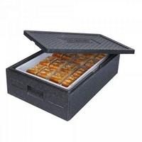 Thermobox Gr. 1 mit Deckel, EPP-Kunststoff, anthrazit, Inhalt 31 Liter, LxBxH 685 x 485 x 180 mm