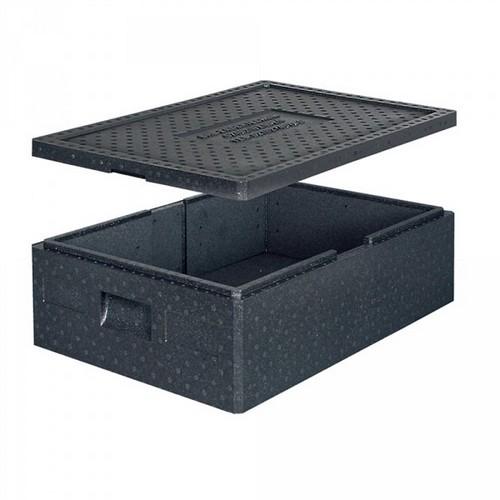 Thermobox Gr. 1 mit Deckel, EPP-Kunststoff, anthrazit, Inhalt 42 Liter, LxBxH 685 x 485 x 220 mm