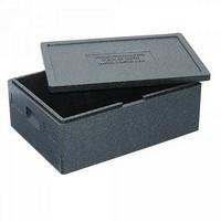 Thermobox Gr. 1 mit Deckel, EPP-Kunststoff, anthrazit, Inhalt 53 Liter, LxBxH 685 x 485 x 260 mm