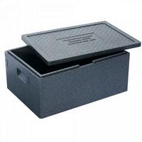 Thermobox Gr. 1 mit Deckel, EPP-Kunststoff, anthrazit, Inhalt 69 Liter, LxBxH 685 x 485 x 320 mm