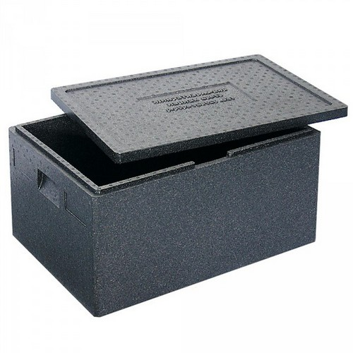 Thermobox Gr. 1 mit Deckel, EPP-Kunststoff, anthrazit, Inhalt 79 Liter, LxBxH 685 x 485 x 360 mm