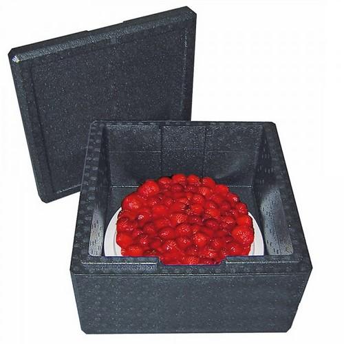 Thermobox Gr. 3 mit Deckel, EPP-Kunststoff, anthrazit, Inhalt 21 Liter, LxBxH 410 x 410 x 240 mm