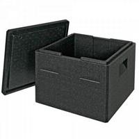 Thermobox Gr. 3 mit Deckel, EPP-Kunststoff, anthrazit, Inhalt 32 Liter, LxBxH 410 x 410 x 330 mm