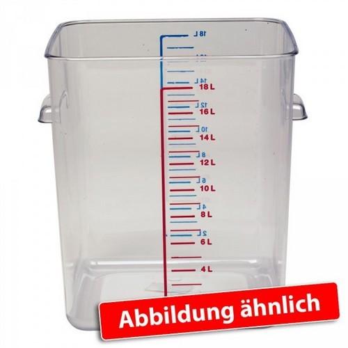 Rubbermaid Frische-Behälter FG631800CLR / transparenter Lebensmittelbehälter, 18 Liter, LxBxH 290 x 265 x 300 mm, Polycarbonat