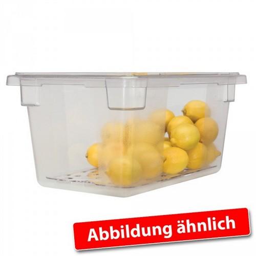 Rubbermaid Frische-Behälter FG330600CLR / transparenter Lebensmittelbehälter, 19,5 Liter, LxBxH 660 x 457 x 90 mm, Polycarbonat