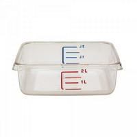 Frische-Behälter FG630200CLR / transparenter Lebensmittelbehälter, 2 Liter, LxBxH 220 x 210 x 70 mm, Polycarbonat