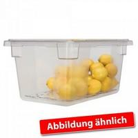 Rubbermaid Frische-Behälter FG330000CLR / transparenter Lebensmittelbehälter, 47 Liter, LxBxH 660 x 457 x 230 mm, Polycarbonat