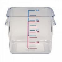 Rubbermaid Frische-Behälter FG630600CLR / transparenter Lebensmittelbehälter, 6 Liter, LxBxH 220 x 210 x 175 mm, Polycarbona