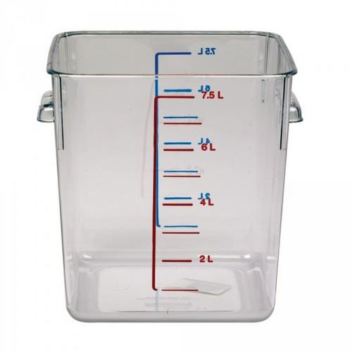 Rubbermaid Frische-Behälter FG630800CLR / transparenter Lebensmittelbehälter, 7,5 Liter, LxBxH 220 x 210 x 220 mm, Polycarbonat