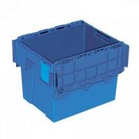 Versandbehälter mit Deckel, 400 x 300 x 305 mm, 25 Liter, blau