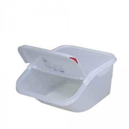 16 Liter Container für Zutaten, stapelbar, mit Deckel, BxTxH 340 x 415 x 200 mm, Polypropylen-Kunststoff (PP), weiß