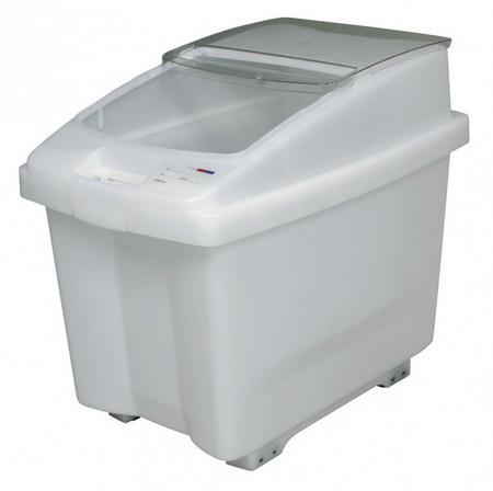 80 Liter Container für Zutaten, mit transparentem Deckel, fahrbar