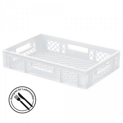 Bäckerkörbe aus Kunststoff, LxBxH 600 x 400 x 120 mm, 23 Liter, weiß