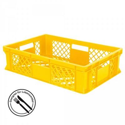 Bäckerkörbe aus Kunststoff, LxBxH 600 x 400 x 120 mm, 27 Liter, gelb
