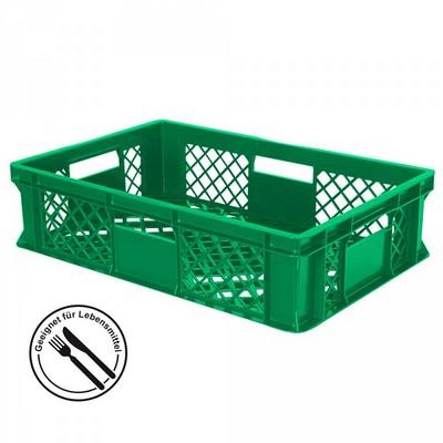 Bäckerkörbe aus Kunststoff, LxBxH 600 x 400 x 150 mm, 27 Liter, grün