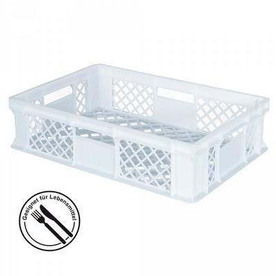 Bäckerkörbe aus Kunststoff, LxBxH 600 x 400 x 150 mm, 27 Liter, weiß