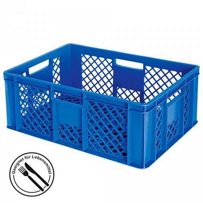 Bäckerkörbe aus Kunststoff, LxBxH 600 x 400 x 240 mm, 43 Liter, blau