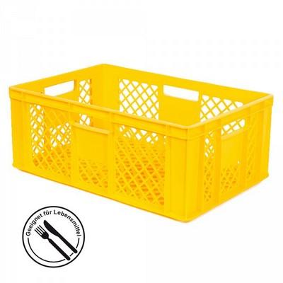 Bäckerkörbe aus Kunststoff, LxBxH 600 x 400 x 240 mm, 43 Liter, gelb