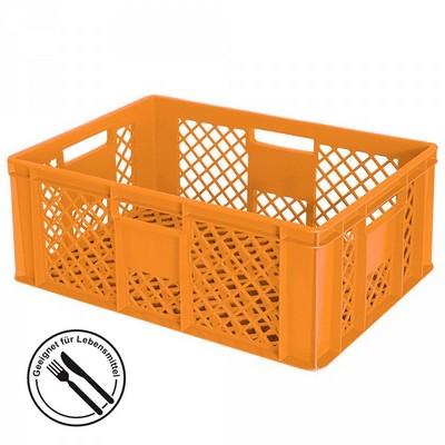 Bäckerkörbe aus Kunststoff, LxBxH 600 x 400 x 240 mm, 43 Liter, orange