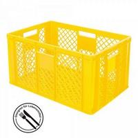 Bäckerkörbe aus Kunststoff, LxBxH 600 x 400 x 320 mm, 63 Liter, gelb